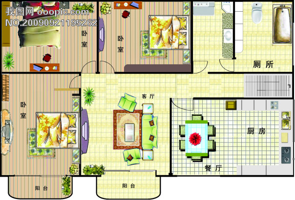 【cdr】房型格局_图片编号:wli675789_建筑设计_室内图片