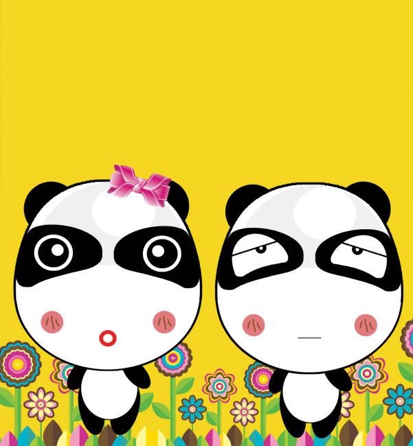 情侣装图片 情侣头像 熊猫表情 矢量向日葵 向日葵 向日葵图片 卡通熊