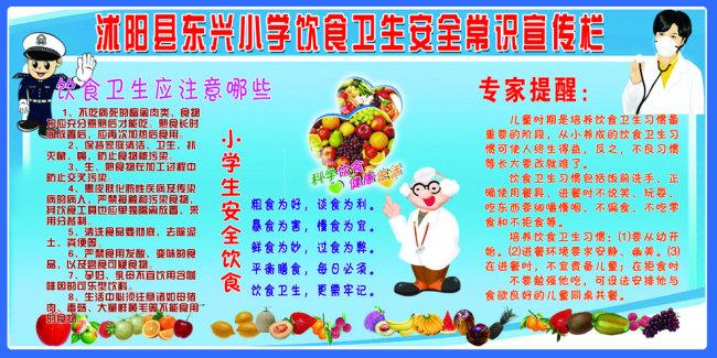 小学饮食卫生安全知识宣传栏图片