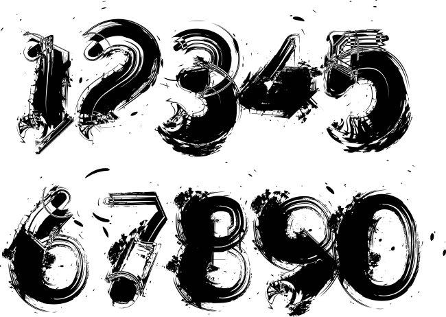 主页 原创专区 插画|素材|元素 艺术字 > 数字字体设计-水墨ai模板