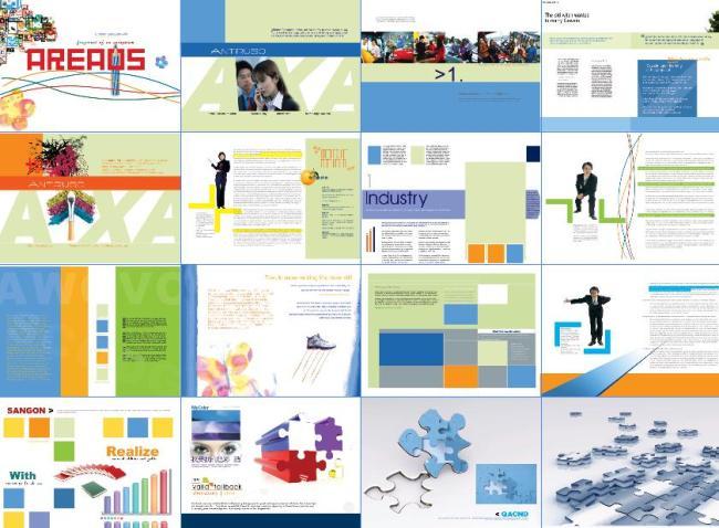 画册版式设计模板  书刊排版设计 书本画册折页排版设计 产品画册版式图片