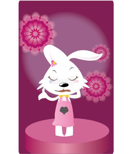 关键词:十二生肖 兔 12生肖之一 小白兔 兔子 小兔子 可爱 兔年 2011 卡通 形象 动物 紫色 裙子 卯兔 时尚 吉祥物 矢量源文件 矢量素材 中国设计 兔年生肖 可爱卡通形象 图图2号 女生版 长耳朵 小动物 俏皮 小兔兔 哭泣 流泪 悲伤揉眼睛 擦眼泪 插图 插画 生肖兔子 卡通形象之图图2号 花朵背景 说明:可爱女生之哭泣的图图08
