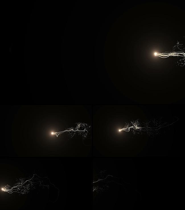 光点游动粒子跟随视频制作高清背景素材