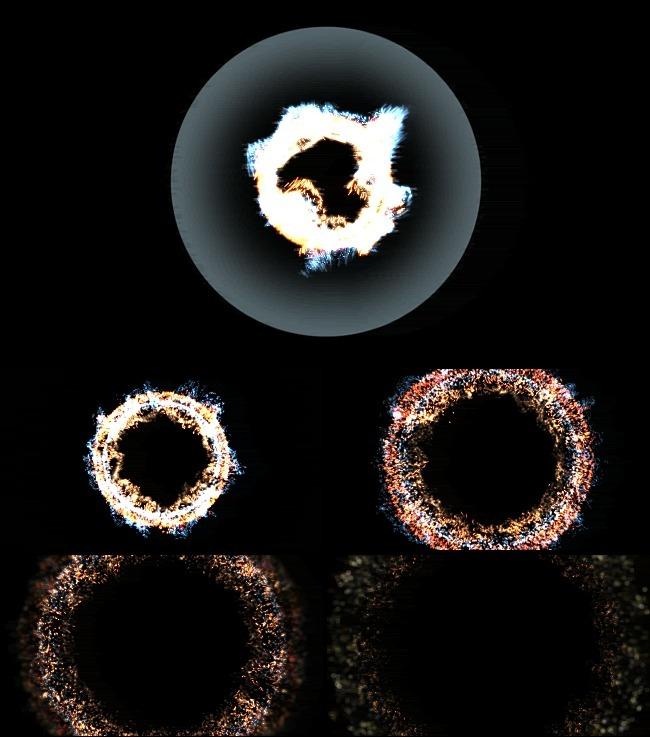 【mov】透明圆形爆炸粒子mov视频素材