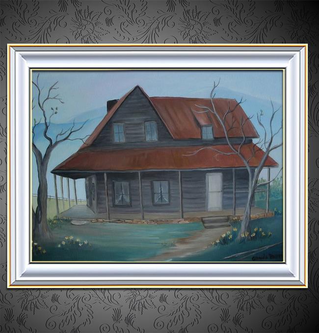 【jpg】小木屋装饰风格风景油画