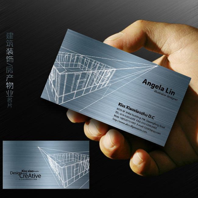 高档名片设计素材_【PSD】装饰公司名片设计欣赏 建筑名片模板下载_图片编号 ...