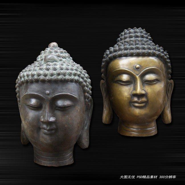 佛头 佛像 佛像图片 佛教雕刻 宗教雕刻 铜质佛像 铜质佛头 雕塑 佛