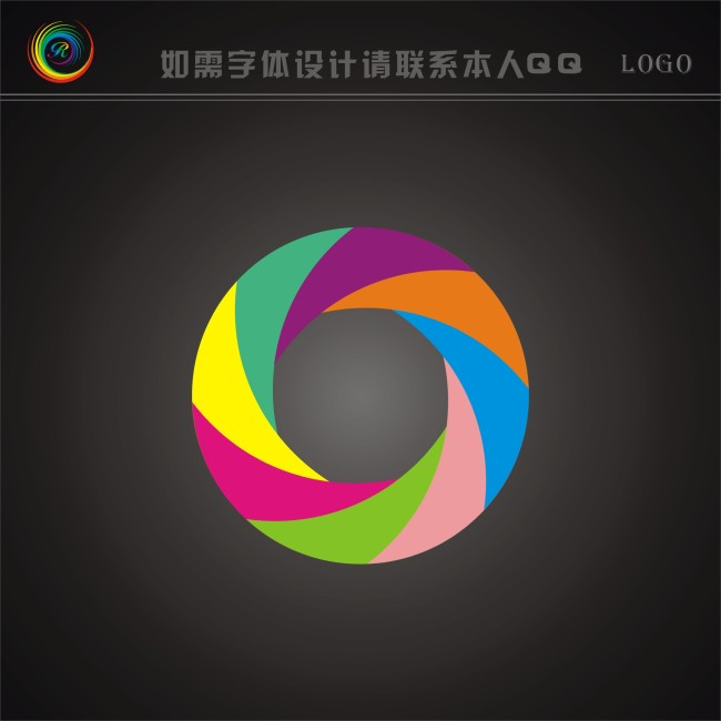 qq腾讯微博图标_【CDR】圆形logo_图片编号:wli10269908_服装纺织logo_标志logo设计 ...