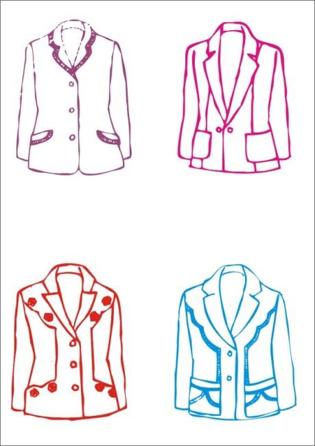 【cdr】女式西装设计