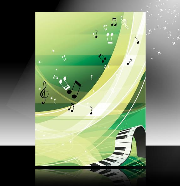 【psd】音乐钢琴海报背景psd模板下载