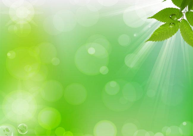 【psd】漂亮绿叶高清psd设计背景图下载