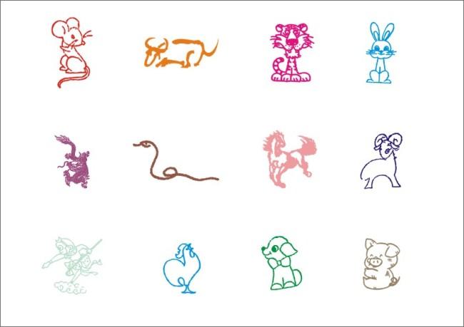 主页 原创专区 插画|素材|元素 生肖插画 > 十二生肖-手绘画  鼠牛