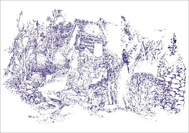 【cdr】草堆房屋-简笔画