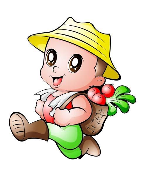 农夫形象_> 平面设计行业卡通形象psd分层源文件下载  关键词: 田园农夫 可爱农