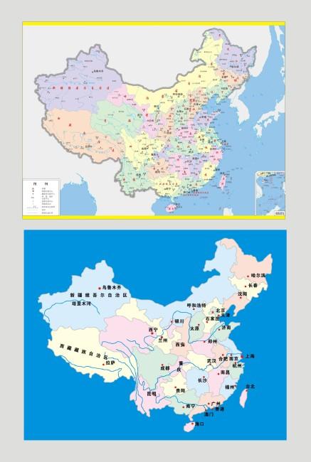 【cdr】中国行政地图和省会地图_图片编号:wli_其他