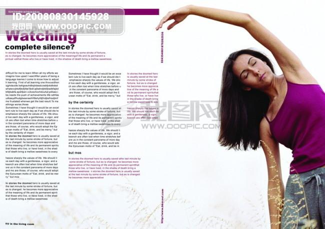 平面广告psd分层素材源文件 页面 排版 版式 健美 健康 瑜伽 女人图片