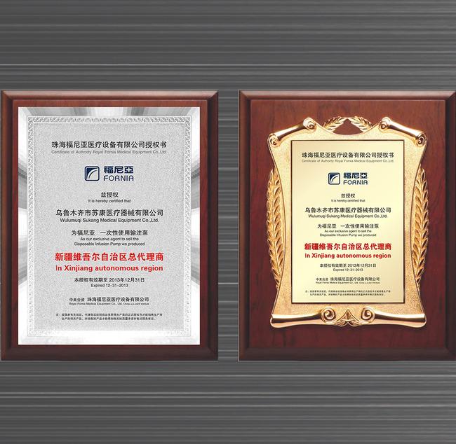 ps奖状模板_【CDR】授权牌荣誉证书模板_图片编号:wli11602610_证书 荣誉证书 ...