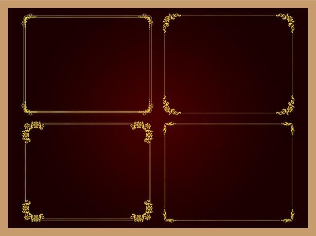 边框花纹花边矢量图