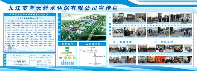 关键词: 宣传栏 背景 展板 模板 环保宣传栏 蓝色展板 污水厂效果图