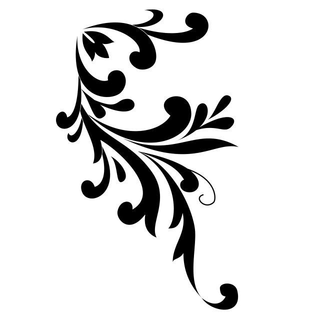 【eps】白色背景黑色矢量花纹背景
