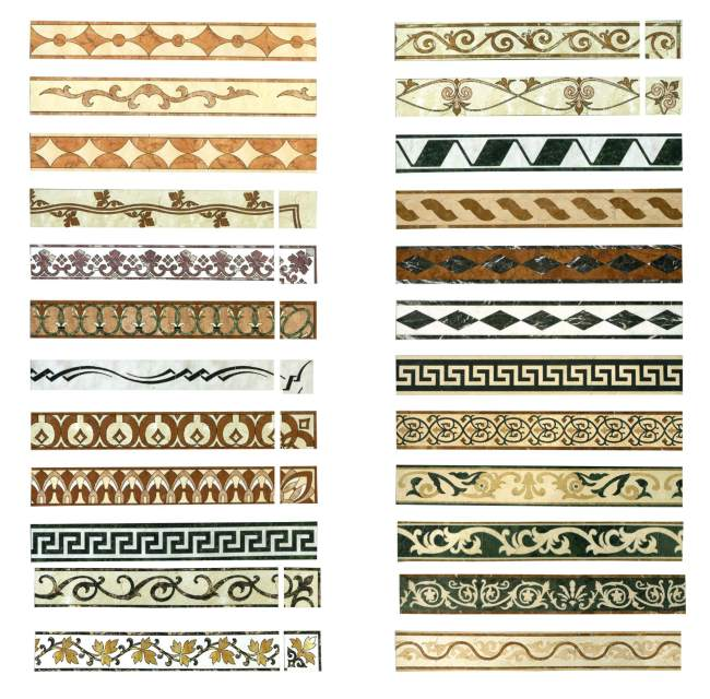拼花石线 装饰线  边框花纹 装饰石线 石线条 二方连续 拼花图案花纹