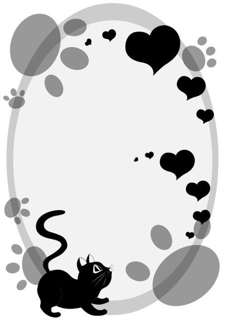 【ai】可爱小黑猫背景素材