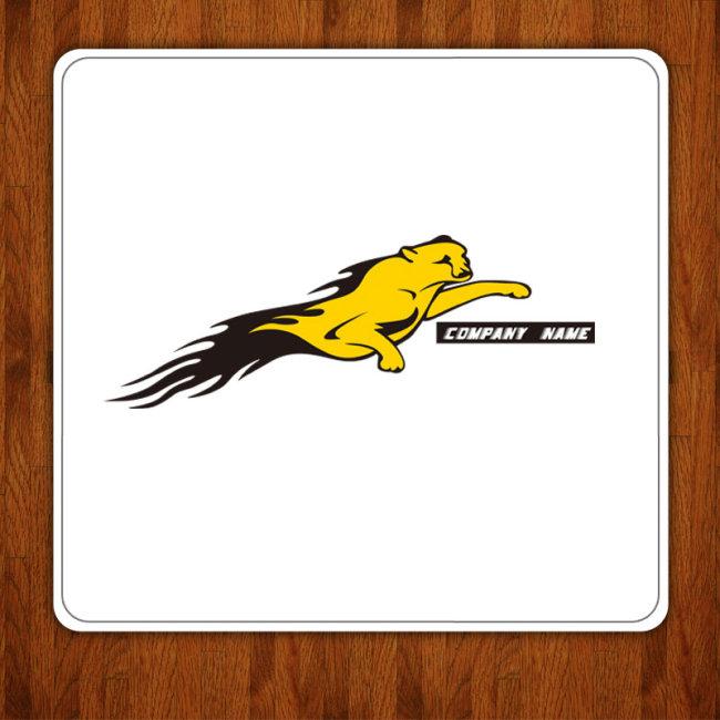 【ai】奔跑的豹子logo