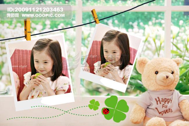 【psd】清新可爱的儿童相框相册模板