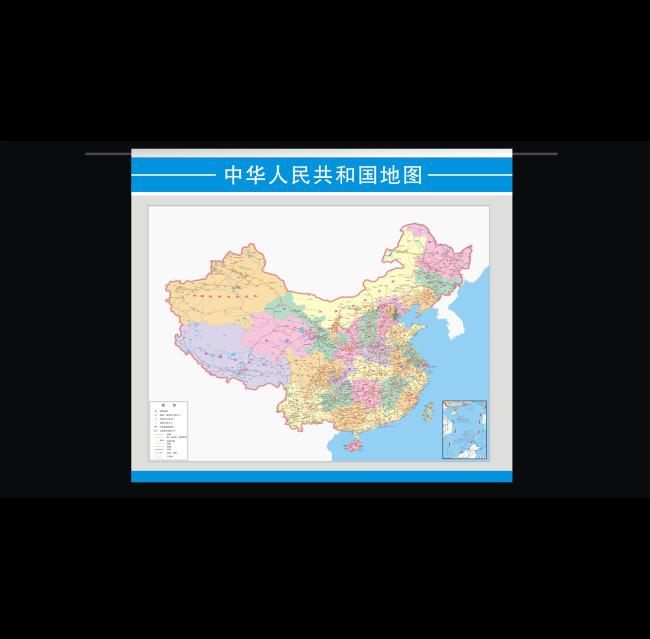 展板设计模板|x展架 其他展板设计 > 中国地图  挂画 校园展板 地图册