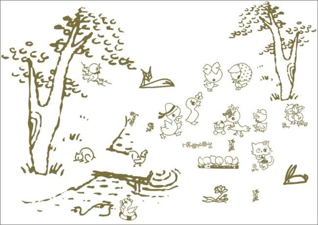 小河动物简笔画图片大全