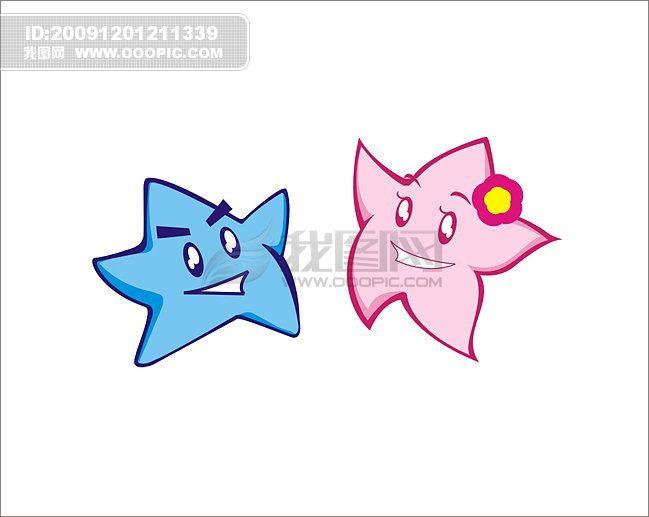 【cdr】矢量海星兄妹_图片编号:wli775212_卡通形象