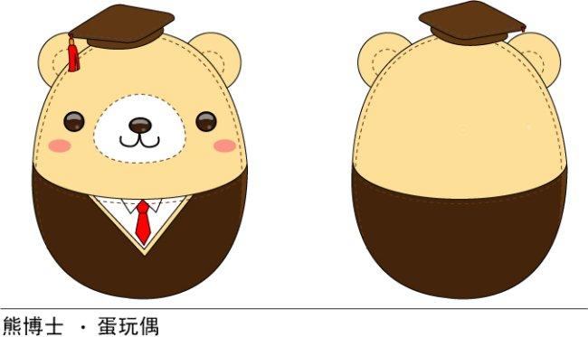 【ai】熊博士 儿童卡通设计 ai矢量