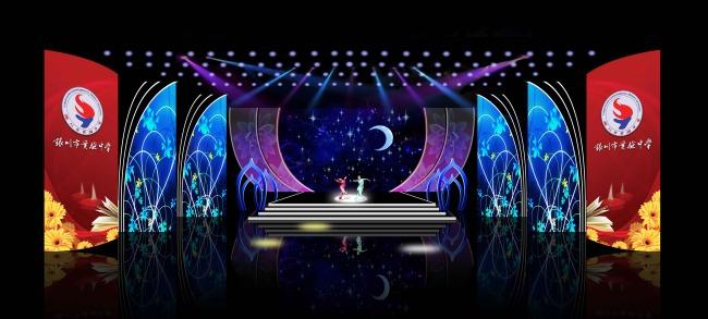 炫彩灯光 led大屏 舞台框架 舞台背景 校庆舞台 说明:舞台效果图