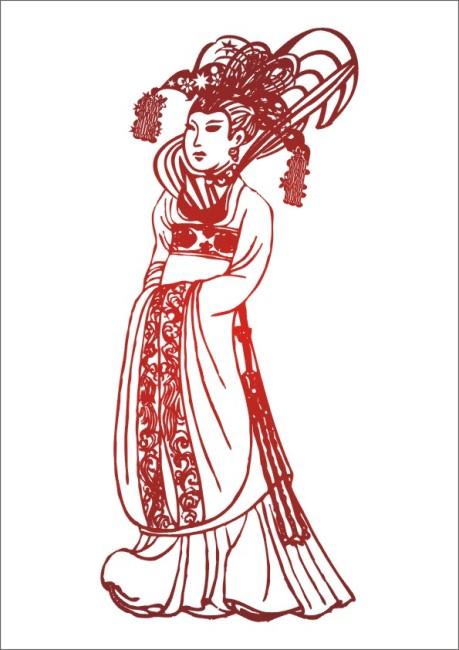 汉服 古代美人 仙女 王母娘娘 王妃 皇妃 妃子 皇族 王族 凤冠霞帔