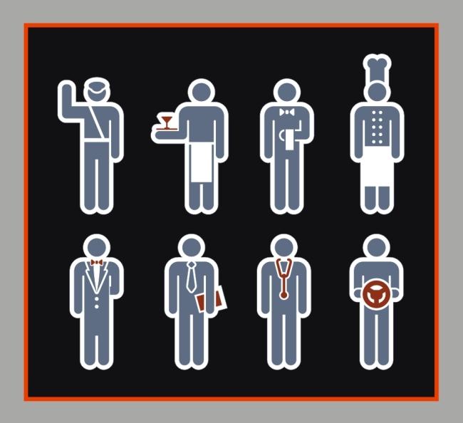 【cdr】创意图标人物插画设计
