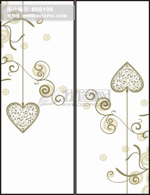 玻璃移门潮流 移动门花边底纹 韩国花纹 花边底纹 线条底纹 线条画