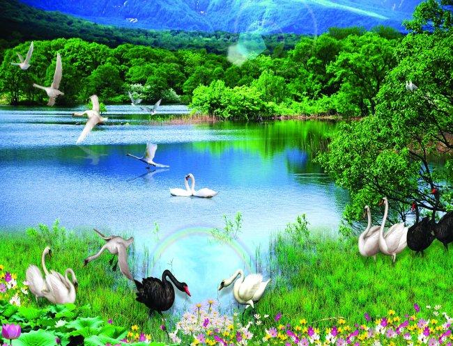 山水风景画 > 绿水青山 山水风景画 漂亮山水画  风景画 鲜花 仙境