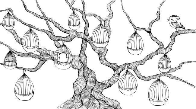 【ai】线条大树
