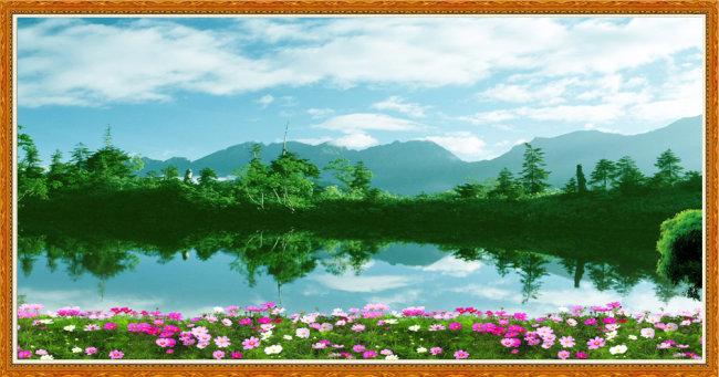 关键词: 青山 绿水 蓝天 白云 湖面 绿树 远山 山脉 碧海 风景 景色
