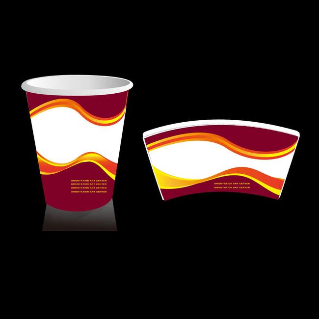 纸杯设计 纸杯 质感纸杯设计 纸杯平面图 纸杯剖面图 纸杯矢量图 环保