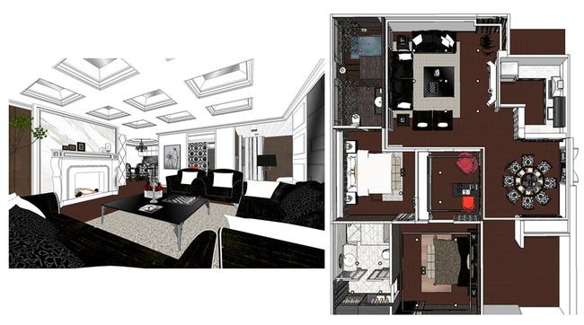 关键词:sketchup室内 sketchup室内设计模型 su sketchup 室内 设计 装饰 室内设计 模型 动画 室内模型 3D设计模型 源文件 SKP 其他 说明:SketchUp83D模型室内设计