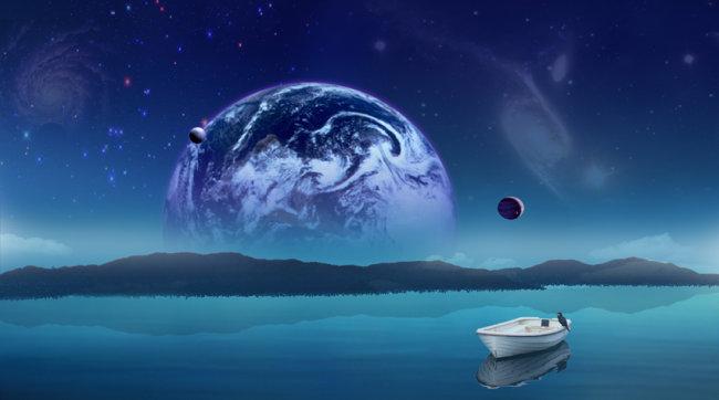 海洋科幻简笔画