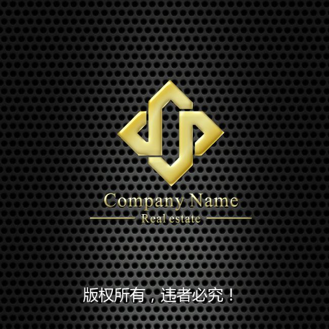 矢量標志 字母組合 logo設計 菱形 說明:字母組合標志設計模板下載