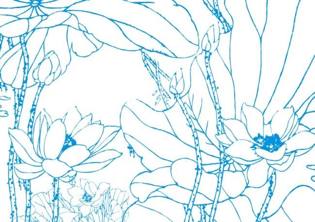黑白线条画图片大全  线条花纹背景矢量素材