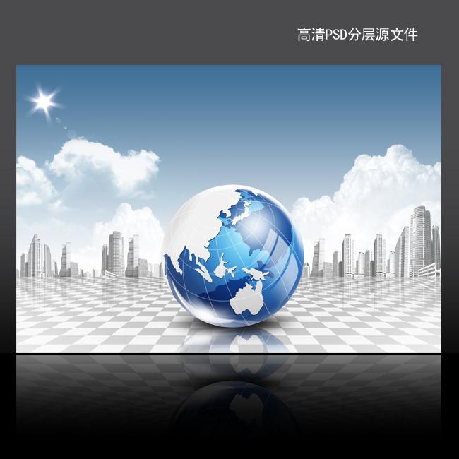 【psd】it电子科技海报背景psd模板下载
