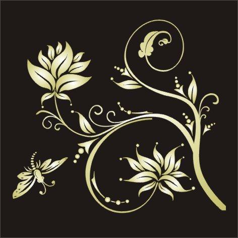 【cdr】矢量分层金色花纹