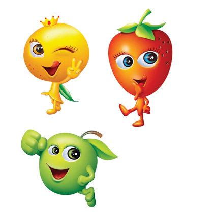 关键词: 水果 卡通 素材 形象 草莓 苹果 橘子 橙子 说明:水果卡通