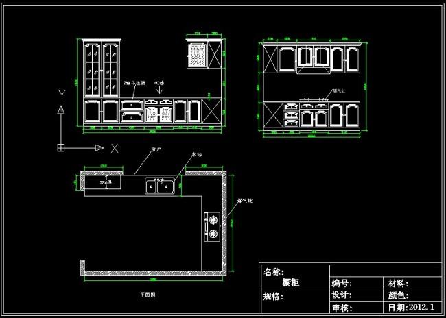 【DWG】实木功能cad2012橱柜旧转图纸图片