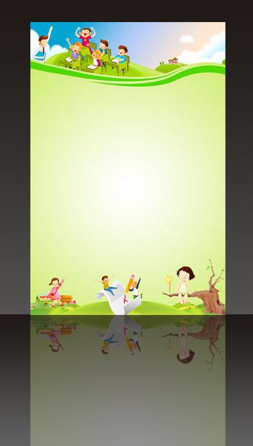 psd素材 小学 学校 幼儿园 幼儿园背景 幼儿园展板模板 幼儿园卡通