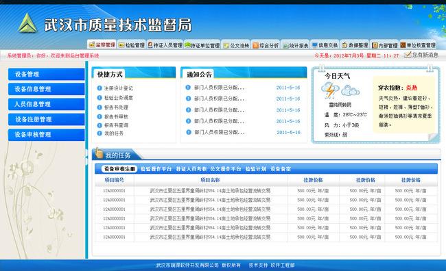 【PSD】后台蓝色管理系统主界面设计v后台与放大局部绘制图图片